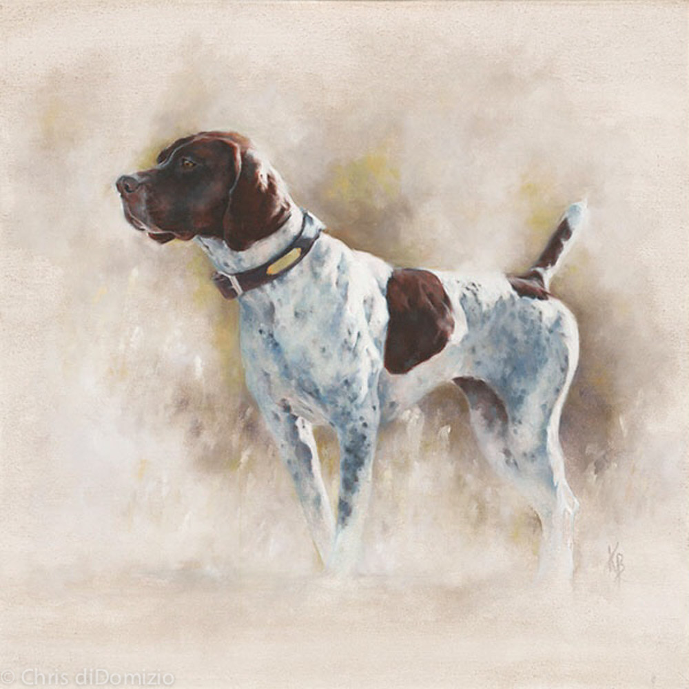 Kate Bolia original oil painting dog protrait