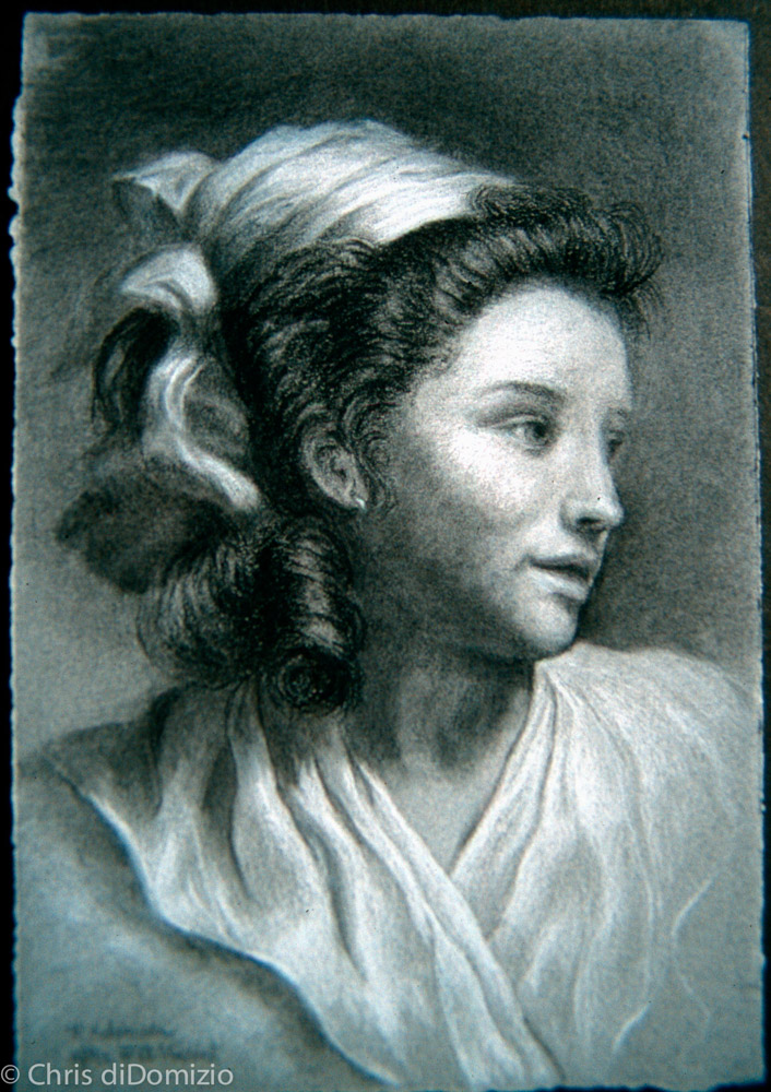 Margeret Hutchison charcoal