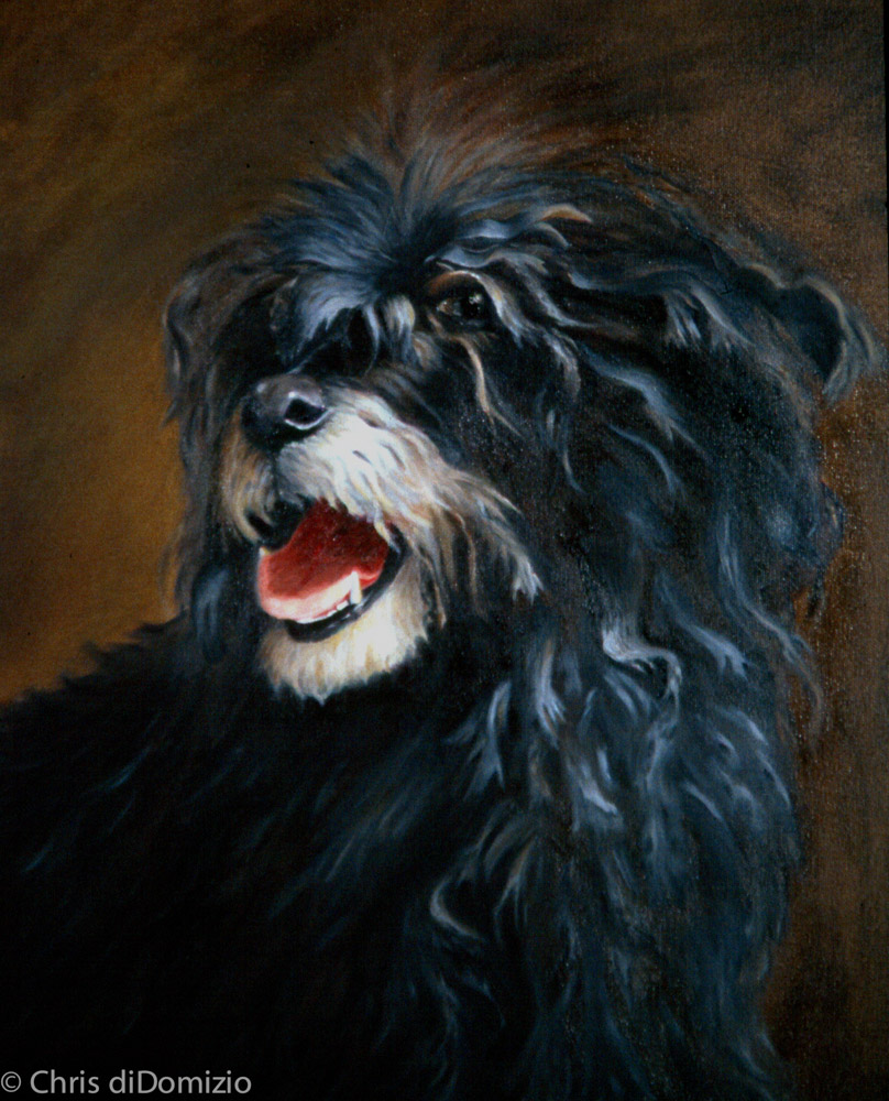 original oil painting dog