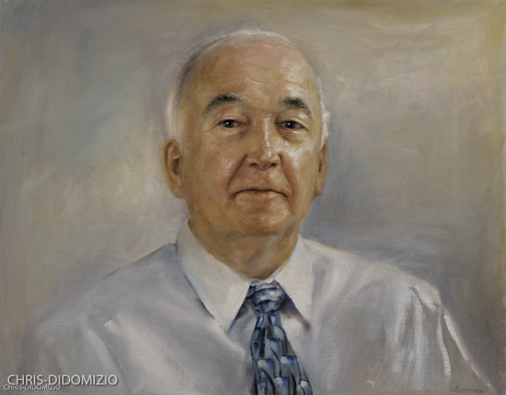 Harry Stephens CEO Datamatx, Oil On Linen