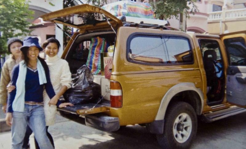 kids In Thailand receive help toward purchasing a truck through kids in Haiti's art work.