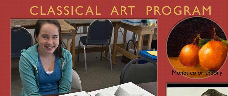 Kids Art Program flyer