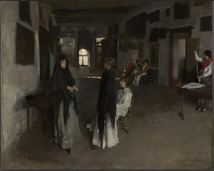 "John S. Sargent ""A Venetian Interior"" 1880-1882"