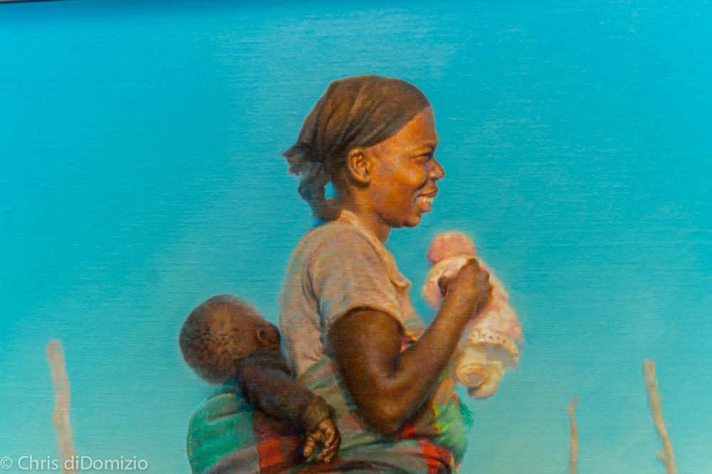 Dyaln Scott Pierce original Oil Painting Proud mom