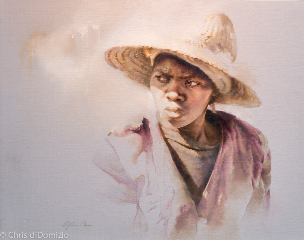 Dylan Scott Pierce original oil painting Africa