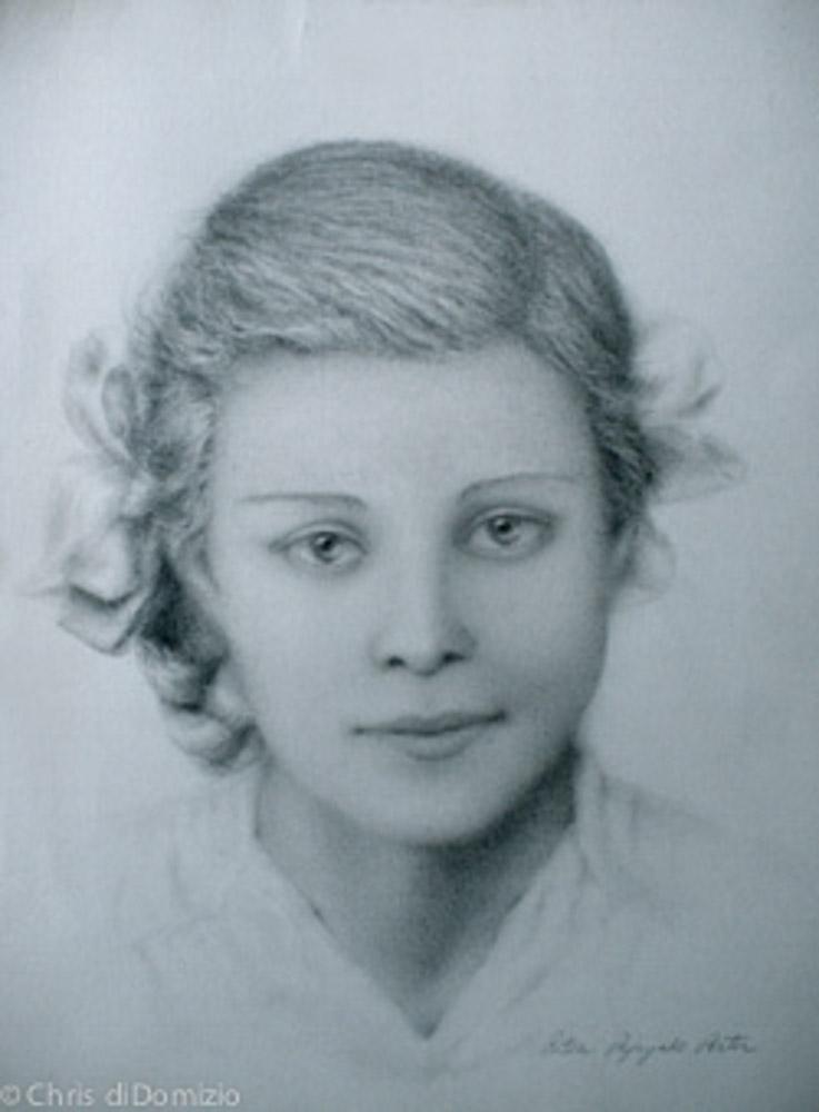 Ritva Porter original graphite on toned paper