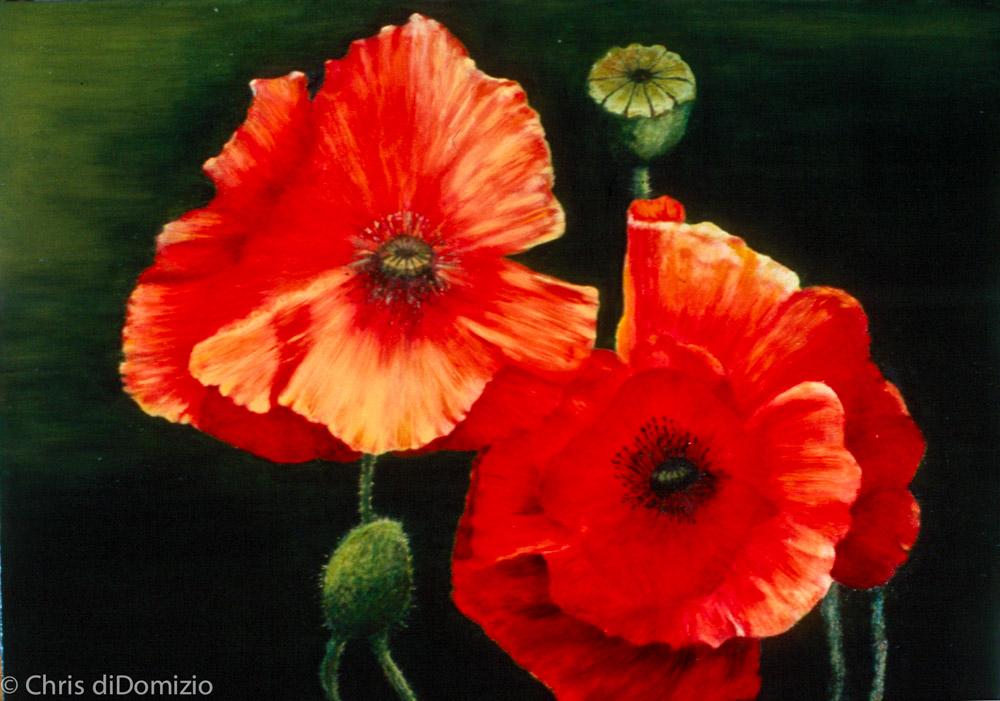 oil painting original flowers_