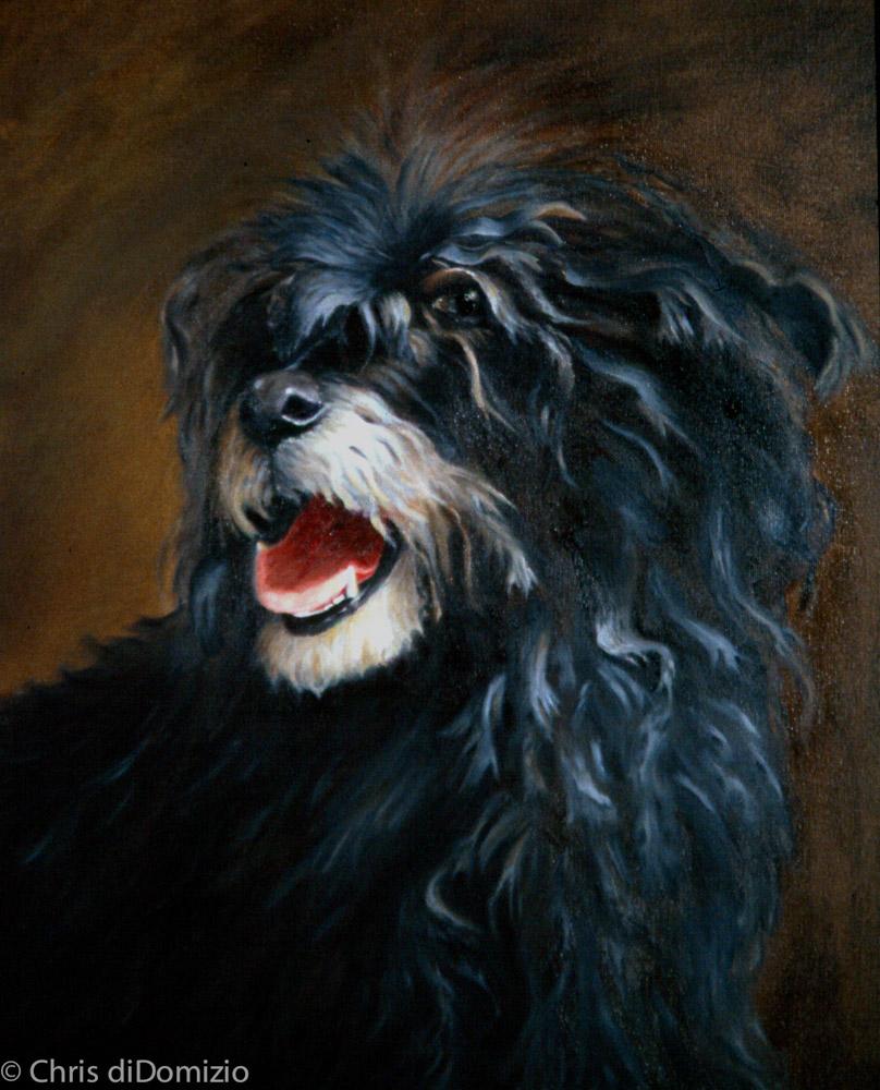original oil painting dog