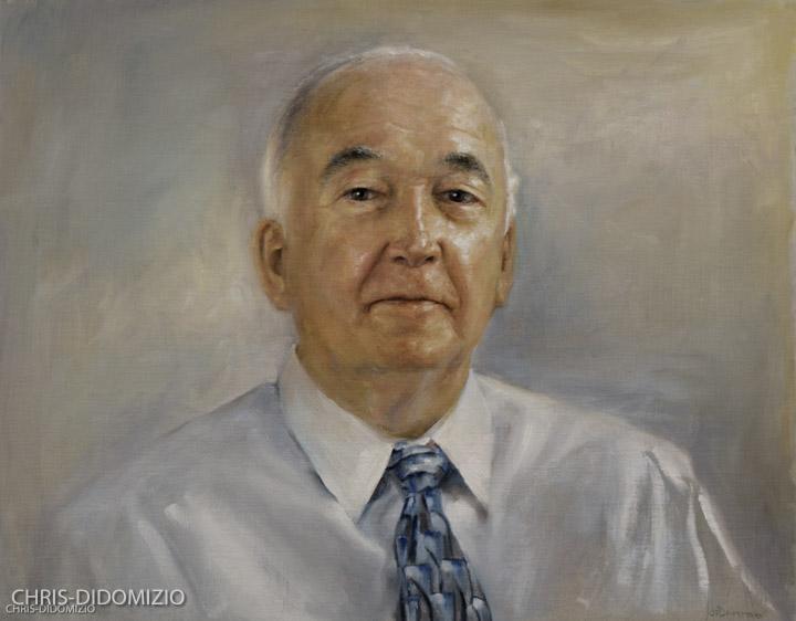 Harry Stephens CEO Datamatx, Oil On Linen