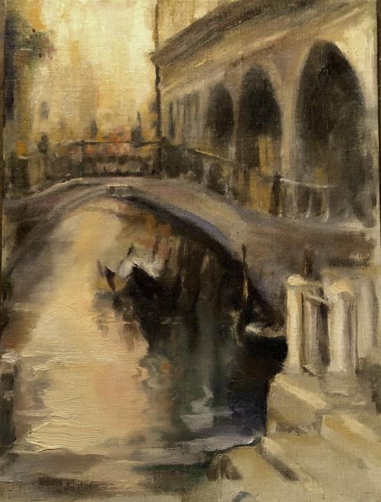 Venice Morning - Oil On Linen, Chris diDomizio
